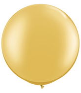 "30""  Qualatex Latex Balloons  GOLD    02CT"