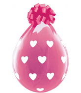 """18"""" Stuffing Balloons Big Hearts Clear (25 Count)"""