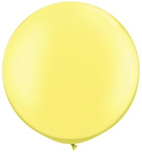 "30""  Qualatex Latex Balloons  Pearl LEMON CHIFFON  02CT"