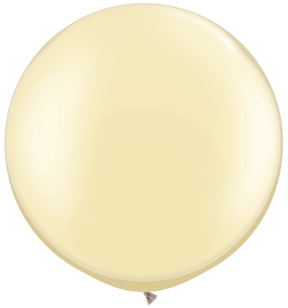 "30""  Qualatex Latex Balloons  Pearl IVORY 02CT"