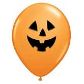 "11"" Orange Jolly Jack Latex Balloons (50 Ct)"