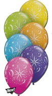 """11"""" Sparkle Balloons Tropical  Assortment  (50 Count)"""