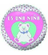"4"" Airfill Only Balloon Es Una Nina"