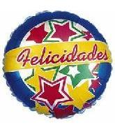 "4"" Airfill Felicidades Stars Balloon"