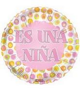 """18"""" Es Una Nina Baby Balloon"""
