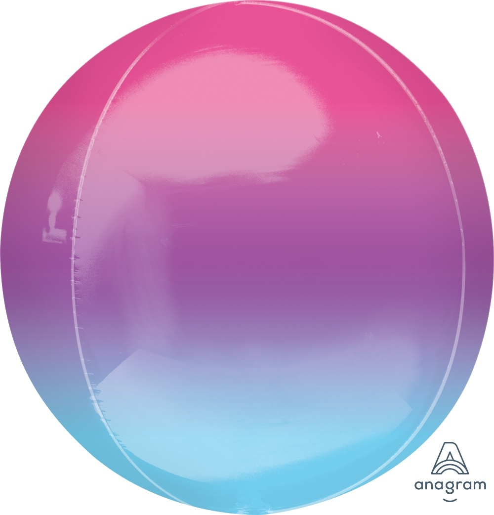 """16"""" Foil Balloon Ombre Orbz Purple and Blue"""