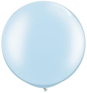 "30""  Qualatex Latex Balloons  Pearl LIGHT BLUE     02CT"