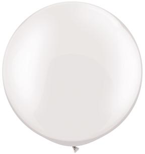 "30""  Qualatex Latex Balloons  Pearl WHITE 02CT"