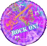 18'' Rock On Mylar Balloon