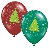 "11"" Christmas Trees Stars & Swirls Assortment (50 Count)"