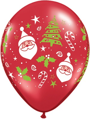 "11"" Santa & Christmas Tree  (50 Count)"