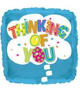 """17"""" Thinking Of You Cloud Foil Balloon"""