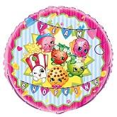 "18"" Packaged Shopkins Foil Balloon"