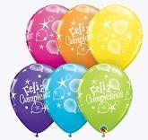 "11"" Feliz Cumpleanos! Party Special Assortment (50 Count)"