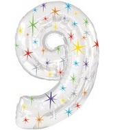 "38"" Multi-Colored Sparkles Nine Balloon"
