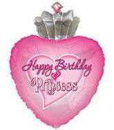 "30"" Happy Birthday Princess Packaged"