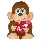 "22"" Mr. Loveable Monkey Balloon"