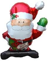 """36"""" Waving Santa Balloon"""