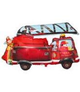 """36"""" Fire Truck Balloon Packaged"""