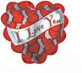 "20"" I love you Banner Hearts and Ruffle"