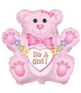"31"" Jumbo It's a Girl Bear Packaged"