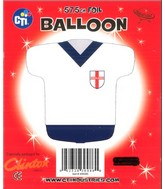"""22"""" England Rugby Jersey Shaped Foil Balloon"""