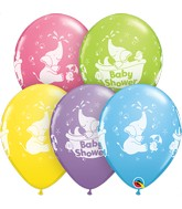 """11"""" Special Assorted 50 Count Baby Shower Elephant"""