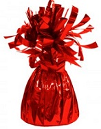 6OZ Red Foil Wrapped Balloon Weight