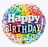 "18"" Happy Birthday Birthday Rainbow Confetti"