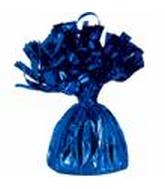 6OZ Blue Foil Wrapped Balloon Weight