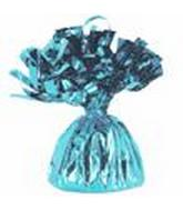 6OZ Lt. Blue Foil Wrapped Balloon Weight