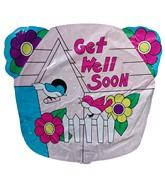 """20"""" Get Well Soon Birds Jumbo Balloon (SLIGHT DAMAGE)"""
