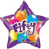 "20"" Sparkling Fifty Mylar Balloon"