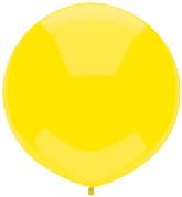 "17"" Outdoor Display Balloons (72 Count) Lemon Yellow"