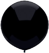 """17"""" Outdoor Display Balloons (72 Count) Pitch Black"""