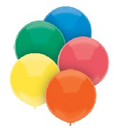 """17"""" Outdoor Display Balloons (72 Count) Primary Assortment"""