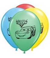 "11"" Assorted Latex Balloons Disney Cars"
