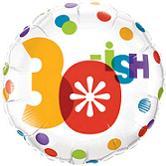 """18"""" 30-ish Foil Balloon"""