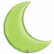 "35"" Crescent Moon Lime Green Balloon"
