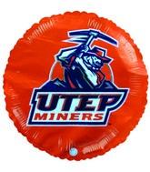 "9"" UTEP Miners Logo Football Orange Balloon Collegiate"