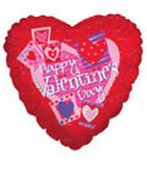 "9"" Airfill Valentine's Day Heart Pictures"