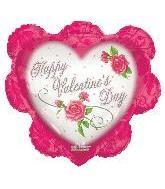 "26"" Valentine Ruffled Heart Pink"