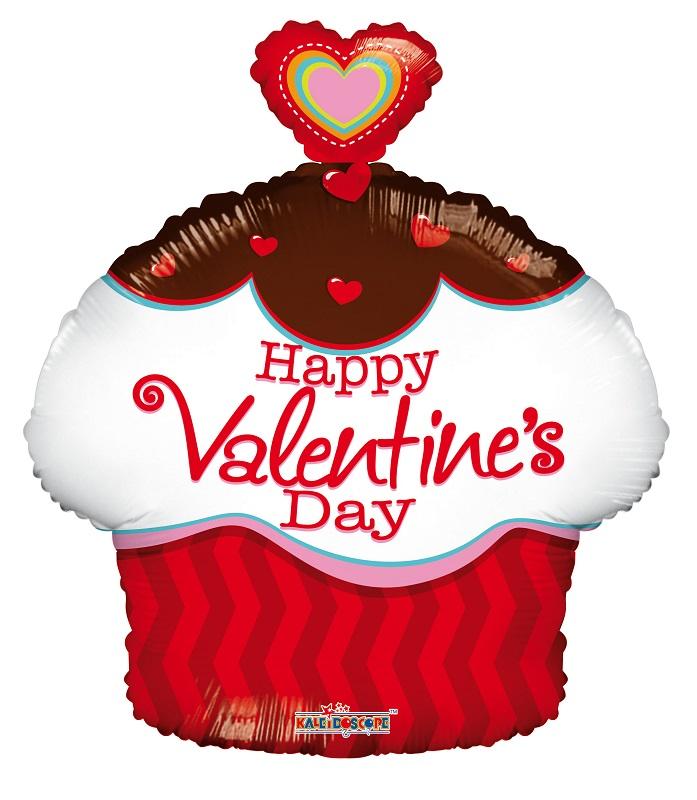 """18"""" Valentine's  Cupcake Shape"""