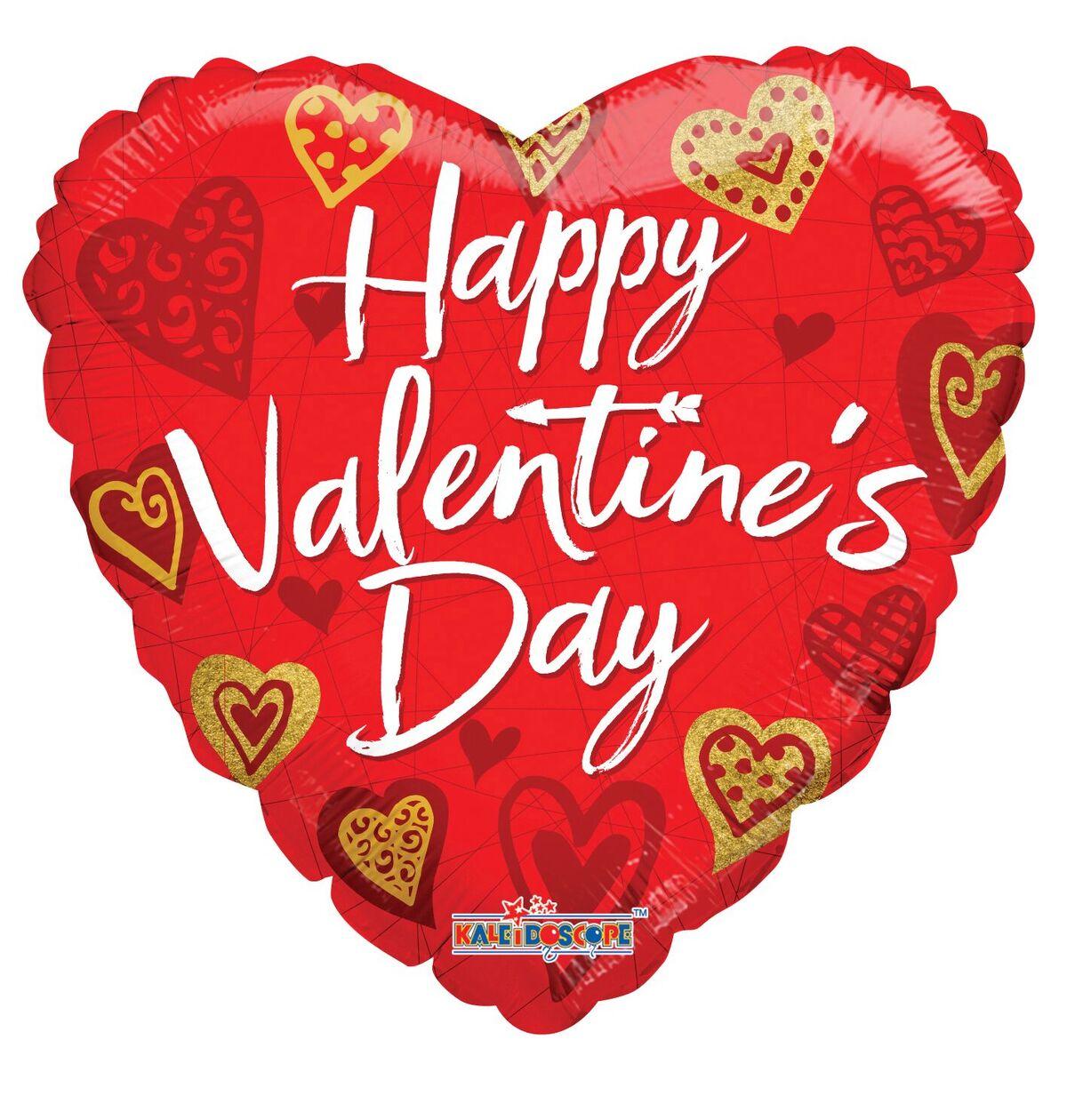 "18"" Happy Valentine's Day Hearts & ArrowsBalloon"