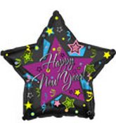 """18"""" """"Happy New Year"""" Graphic Star"""