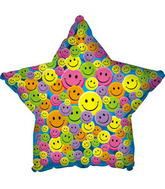 "31"" Many Smiley Faces Star (B19) Packaged"