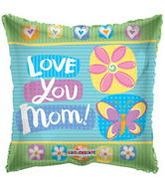 "18"" Square Love You Mom! Balloon"