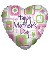 """18"""" Happy Mother's Day Squares Balloon"""