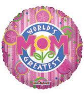 "36"" World's Greatest Mom Floral Fun Balloon"