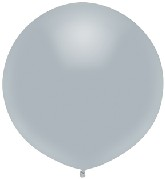 """17"""" Outdoor Display Balloons (72 Count) Shinning Platinum"""